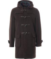 gloverall morris duffle coat   brown tartan   mc3512-brta