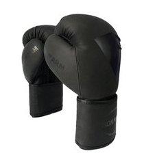 luva de boxe premium preto fosco iron arm .