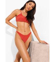 badstoffen mix & match bikini top met laag uitgesneden decolleté, rust