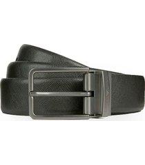 emporio armani black leather belt
