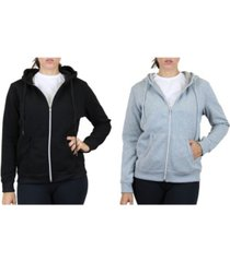 galaxy by harvic women's fleece lined zip hoodie, pack of 2