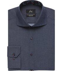 suitor indigo blue slim fit dress shirt