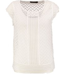 supertrash off white polyester top met losse ondertop