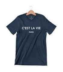 camiseta arimlap c est la vie azul marinho