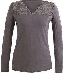 shirt met kant, zilvergrijs 36