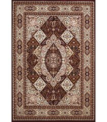 "asbury looms antiquities kirman jewel 1900 01739 58 burgundy 5'3"" x 7'2"" area rug"
