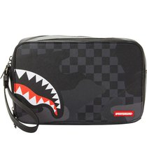 sprayground 3am toiletry bag | black and grey | 910b3289-3am