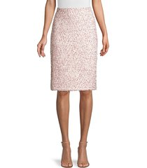 rebecca taylor women's tweed pencil skirt - pink - size 2