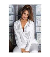 sexy satijn look pyjamas / homewear wit