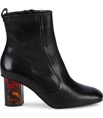 stride acrylic-heel leather booties