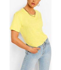 oversized t-shirt met crewneck, lemon
