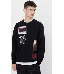 sweatshirt met patches
