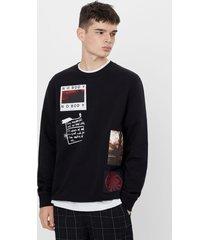 sweatshirt met patches