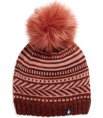 women's smartwool chair lift beanie with faux fur pom -