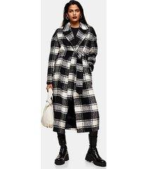 black and white check coat - monochrome