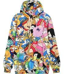 women hoodie 2017 3d print hooded sweatshirt casual plus size pullover size m,l