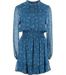 michael michael kors printed georgette dress