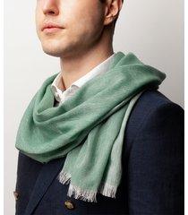 sciarpa da uomo, maalbi, lino cashmere verde, primavera estate | lanieri