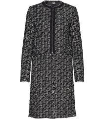 long transformer boucle coat dunne lange jas zwart karl lagerfeld