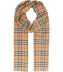 burberry check gauze scarf
