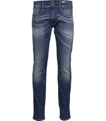 anbass skinny jeans blå replay