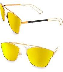 aqs women's emery 59mm square sunglasses - gold
