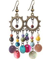 vintage orecchini a ciondolo etnico con frange colorate regalo per lei con multe scelte