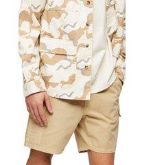 men's topman slim fit drawstring cargo shorts
