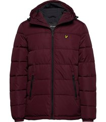 wadded jacket fodrad jacka röd lyle & scott