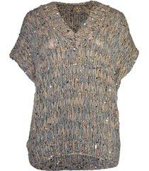 mohair short sleeve pullover top