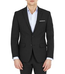 bar iii men's solid skinny fit wrinkle-resistant wool suit separate jacket, created for macy's