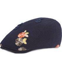 berretti in cotone rana da uomo, personalizzati in stile folk-custom, con cappellino parasole anteriore
