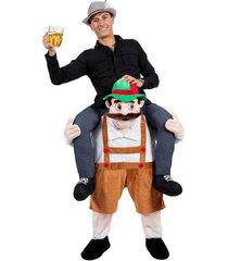 hotcarry me bavarian beer guy ride on oktoberfest mascot new fancy dress costume