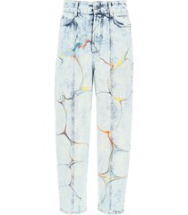 stella mccartney jeans with marbled print