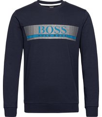 authentic sweatshirt sweat-shirt tröja blå boss