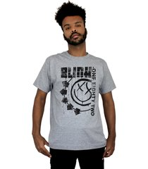 camiseta 182life blink one eighty two cinza mescla - cinza - masculino - dafiti