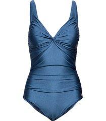panos shine simi swimsuit badpak badkleding blauw panos emporio