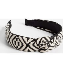 maurices womens black & white patterned knotted headband