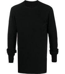 rick owens drkshdw fitted crew neck sweatshirt - black
