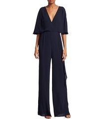 asymmetric drape georgette jumpsuit