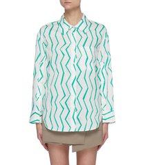 zig zag stripe cotton shirt