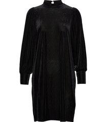 frnevelour 7 dress knälång klänning svart fransa