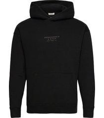 anf mens sweatshirts hoodie svart abercrombie & fitch