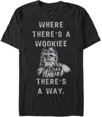 star wars men's classic chewbacca where there's a wookie there's a way short sleeve t-shirt