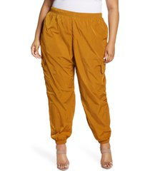 plus size women's good american essential nylon cargo pants, size 5 - grey