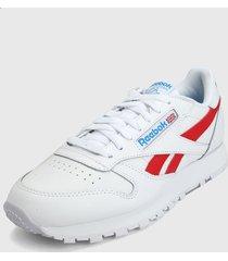 tenis lifestyle blanco-rojo reebok classic leather