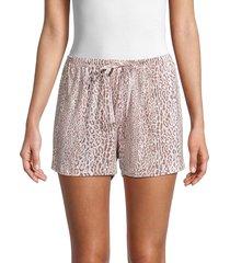 hue women's leopard-print boxer shorts - iron - size l