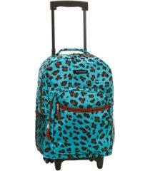 "rockland 17"" rolling backpack"