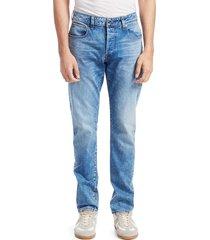 g-star raw men's 3301 slim fit jeans - light blue - size 32 34