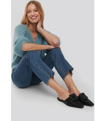na-kd shoes application detailed slipper - black